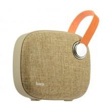 Портативный динамик Hoco BS8 Plain textile desktop wireless speaker Brown Коричневый