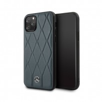Чехол Mercedes-benz для iPhone 11 Pro Max Wave Quilted Hard Leather Blue