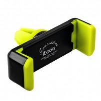 Автомобильный держатель iBacks Universal Car Air Vent Phone Holder для телефона универсальный в решетку - (ip60234) Зеленый
