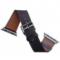 Ремешок кожаный COTEetCI W8 DECOROUS (WH5207-GY) для Apple Watch 40мм/ 38мм (классическая пряжка) Storm Gray - Темно-серый