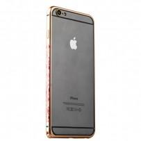 Бампер металлический iBacks Colorful Arc-shaped Flame Aluminium Bumper для iPhone 6s Plus/ 6 Plus - gold edge (ip60063) Gold