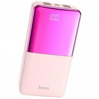 Аккумулятор внешний универсальный Hoco J42B 30000 mAh High power mobile power bank (4USB:5V-2.0A Max) Розовый