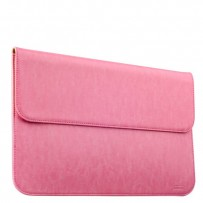 Защитный чехол-конверт i-Carer Genuine Leather Series для Apple MacBook Air 13 (RMA131pink) Светло-розовый
