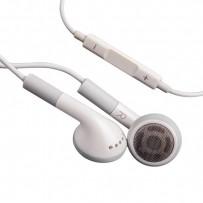 Наушники-вкладыши ракушки для Apple/ Samsung/ HTC/ LG с пультом управления и микрофоном белые в коробке