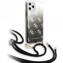 Чехол-бандольер Guess для iPhone 11 Pro Max, черный (GUHCN65WO4GBK)