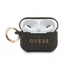 Чехол Guess для Airpods Pro Silicone case with ring Black