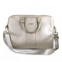 """Сумка Guess для ноутбуков 15"""" сумка Saffiano Bag Beige"""