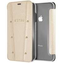Чехол Guess для iPhone XS Max KAIA collection Booktype Gold