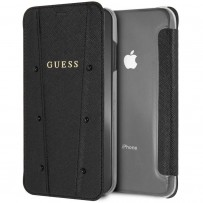 Чехол Guess для iPhone XS Max KAIA collection Booktype Black
