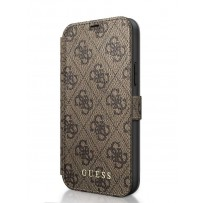 Чехол-книжка Guess для iPhone 12 Pro Max PU 4G collection Booktype Brown/Black (GUFLBKSP12L4GB)
