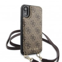 Чехол-бандольер Guess для iPhone XR, коричневый (GUHCI61CB4GB)