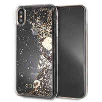 Чехол Guess для iPhone XS Max Glitter Hard Gold (GUHCI65GLHFLGO)
