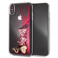Чехол Guess для iPhone XS Max Glitter Hard Raspberry (GUHCI65GLHFLRA)