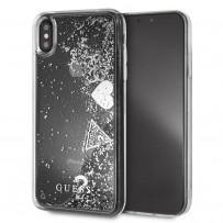 Чехол Guess для iPhone XS Max Glitter Hard Silver