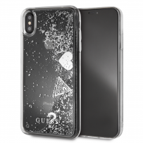 Чехол Guess для iPhone X/XS Glitter Hard Silver
