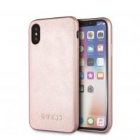 Чехол Guess для iPhone XS Max Silicone Saffiano Hard Pink