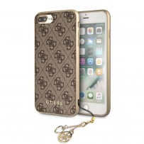 Чехол Guess для iPhone 7/8 PLUS 4G Charms collection Hard Brown