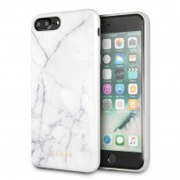 Чехол Guess для iPhone 7/ 8 Plus Marble Collection Hard TPU White