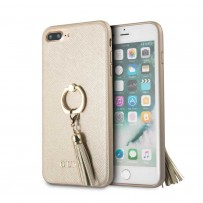 Чехол Guess для iPhone 7/ 8 Plus Saffiano Hard PU + Ring Beige