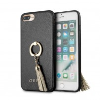 Чехол Guess для iPhone 7/ 8 Plus Saffiano Hard PU + Ring Black