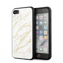 Чехол Guess для iPhone 7/8/SE 2020 Double Layer Marble Hard Tempered glass White