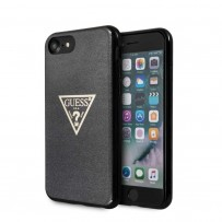 Чехол GUESS для iPhone 7/8 SE 2 Triangle Logo collection Solid Glitter Hard TPU Black