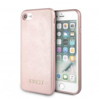 Чехол GUESS для iPhone 7/8 SE 2 Silicone Saffiano Hard Pink