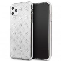 Чехол Guess для iPhone 11 Pro Max 4G Peony Hard PC/TPU Glitter Silver