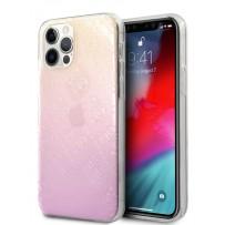 Чехол Guess для iPhone 12 Pro Max PC/TPU 4G in 3D raised Hard Gradient Pink (GUHCP12L3D4GGPG)