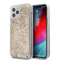 Чехол Guess для iPhone 12 Pro Max чехол Liquid Glitter 4G Hard Gold
