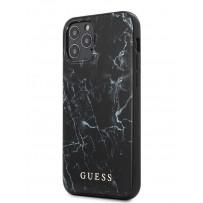 Чехол Guess для iPhone 12 Pro Max PC/TPU Marble Design Hard Black (GUHCP12LPCUMABK)