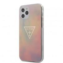 Чехол Guess для iPhone 12 Pro Max чехол PC/TPU TIE & DYE Hard Pink