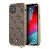 Чехол Guess для iPhone 12/12 Pro PU 4G Charms collection Hard Brown (GUHCP12MGF4GBR)