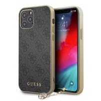 Чехол Guess для iPhone 12/12 Pro PU 4G Charms collection Hard Grey (GUHCP12MGF4GGR)