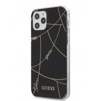 Чехол Guess для iPhone 12/12 Pro PC/TPU Chain design Hard Black/Gold (GUHCP12MPCUCHBK)