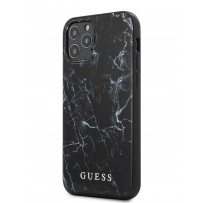 Чехол Guess для iPhone 12/12 Pro PC/TPU Marble Design Hard Black (GUHCP12MPCUMABK)