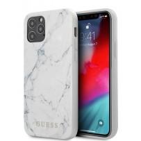 Чехол Guess для iPhone 12/12 Pro PC/TPU Marble Design Hard White (GUHCP12MPCUMAWH)