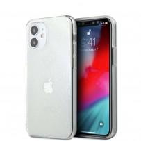 Чехол Guess для iPhone 12 mini PC/TPU 4G 3D raised Hard Transparent (GUHCP12S3D4GTR)