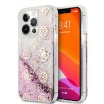 Чехол Guess для iPhone 13 Pro Liquid Glitter Peony Hard Pink (GUHCP13LLGPEPI)