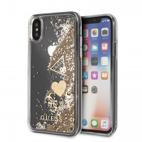 Чехол Guess для iPhone X/XS Glitter Hard Gold