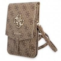 Сумка Guess для смартфонов сумка Wallet Bag 4G with Big melal logo Brown (GUWBG4GFBR)