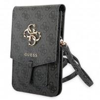 Сумка Guess для смартфонов сумка Wallet Bag 4G with Big melal logo Grey (GUWBG4GFGR)