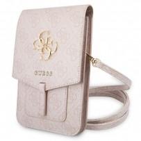 Сумка Guess для смартфонов сумка Wallet Bag 4G with Big melal logo Pink (GUWBG4GFPI)