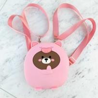 "Детский рюкзак ""Happy Bags"" водонепроницаемый, бархатистый soft-touch, Pinky (для девочки)"