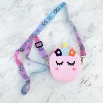 """Детская сумка-кроссбоди """"Happy Bags"""" водонепроницаемая, бархатистая soft-touch, Единорог (для девочки)"""