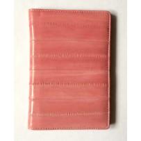 Обложка на паспорт из натуральной кожи угря, нежно-розовая