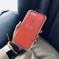 Чехол-накладка силиконовый Apple Silicone Case для iPhone 7 Plus / 8 PLUS (5.5) Оранжевый под оригинал