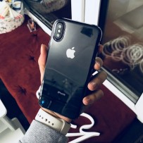 Чехол для iPhone XS/ X (5.8) Hoco clear silicone, затемненный