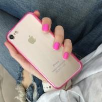 """Чехол для iPhone 7 """"Pink"""" с розовым кантом"""