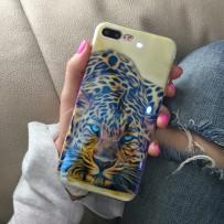 "Накладка для iPhone 7 Plus, ""Леопард"""